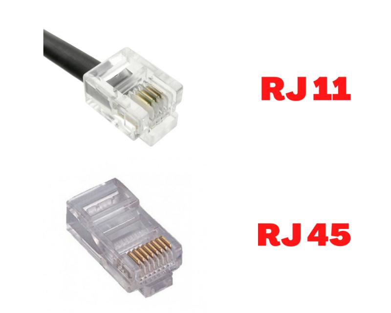 Conector RJ 45 y RJ 11